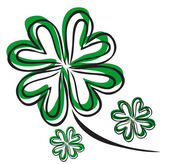 Four leaf clover — Vector de stock