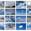 Collection of sky backgrounds — Stock Photo #25676381