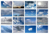 Collection of sky backgrounds — Stock Photo