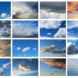 Collection of sky background — Stock Photo