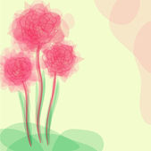 Floral invitation — Cтоковый вектор