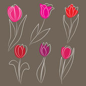 Decorative tulips — Stok Vektör
