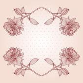 Floral frame — Vecteur