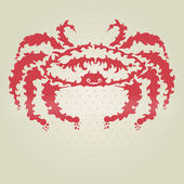 Decorative crab — Stock Vector