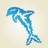 Decorative dolphin — Vector de stock