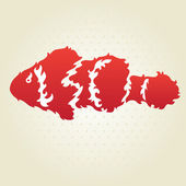 Decorative clownfish — Vector de stock