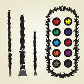 Decorative palette — Stock Vector