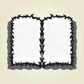 Decorative book — Stock Vector