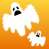 Decorative scary ghosts — Stock Vector
