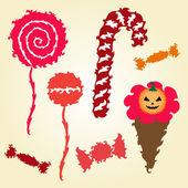 Set of decorative candies — Stock Vector