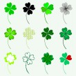 Set of 12 lucky clovers — Stock Vector #30199503