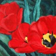 Red tulips painting — Stock Photo