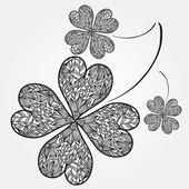 Lucky four leaf clovers — Stock Vector