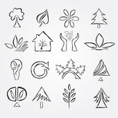 Set of 16 ecology icons — Stock Vector