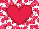 花の招待状 — ストックベクタ