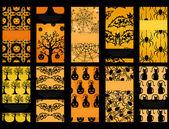 набор из 10 карточек хэллоуин — Cтоковый вектор