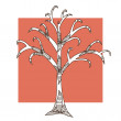 Stock Vector: Decorative tree