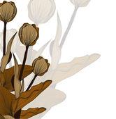 Convite floral — Vetor de Stock
