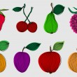 Stock Vector: Set of 8 fruits