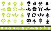 Ensemble de 32 icônes écologie — Vecteur