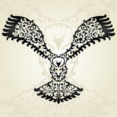 Decorative eagle — Vector de stock