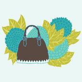 装飾的なハンドバッグ — ストックベクタ