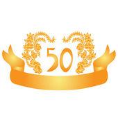 50 years anniversary banner — Stock Vector