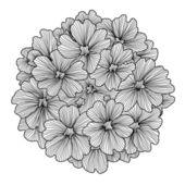Decorative verbena flower — Stock Vector
