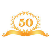 50th anniversary banner — Stock Vector