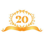 20th anniversary banner — Stock Vector