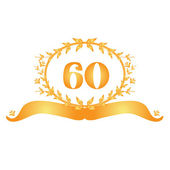60th anniversary banner — Stock Vector