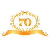 70th anniversary banner — Stock Vector