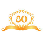 80th anniversary banner — Stock Vector