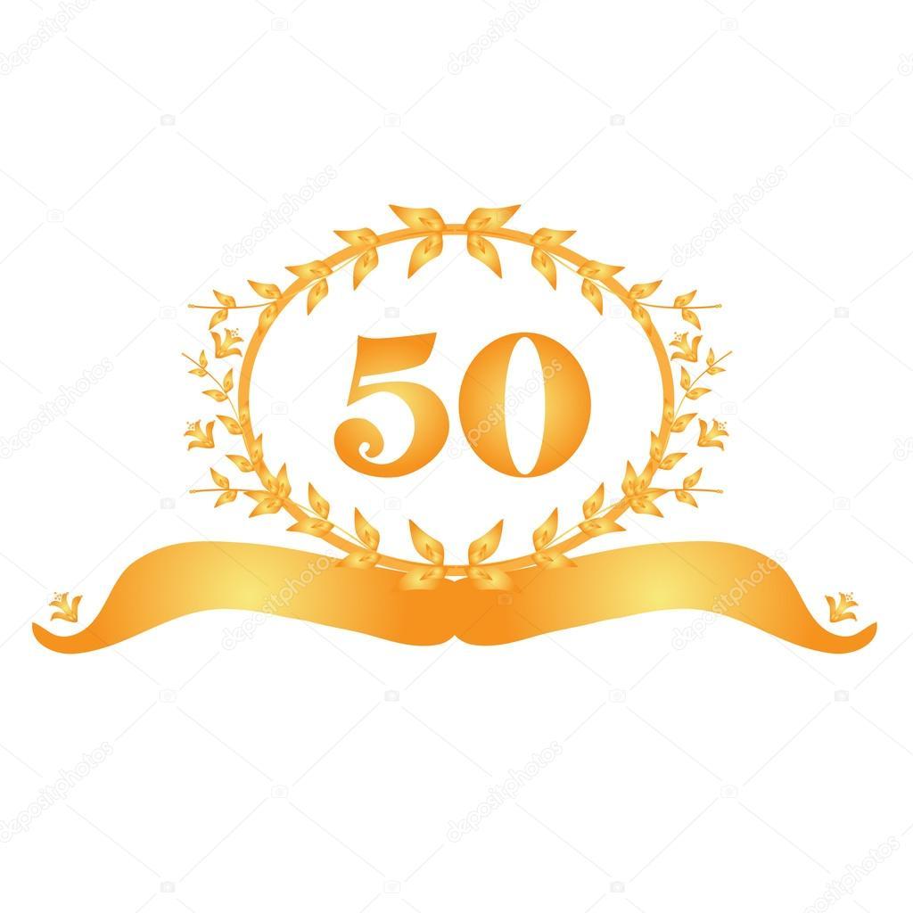 Banner de aniversario 50 \u2014 Vector de stock 39174499