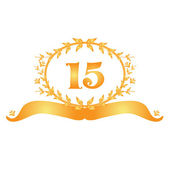15th anniversary banner — Stock Vector