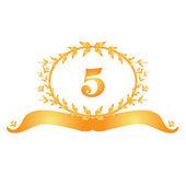 5th anniversary banner — Stock Vector