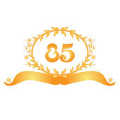 85th anniversary banner — Stock Vector
