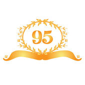 95th anniversary banner — Stock Vector