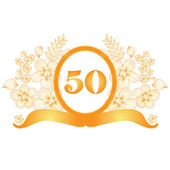 50th anniversary banner — Stock Vector