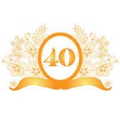 40th anniversary banner — Stock Vector
