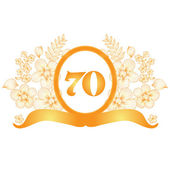 70th annivesary banner — Stock Vector