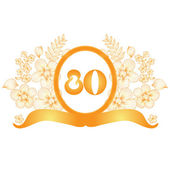 80th anniversary banner — Vector de stock