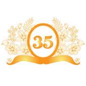 35 yıldönümü afiş — Stok Vektör