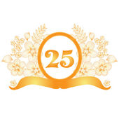25th anniversary banner — Stock Vector
