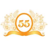 55th anniversary banner — Stock Vector
