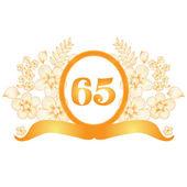 65 yıl dönümü afiş — Stok Vektör