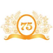 75th anniversary banner — Stock Vector