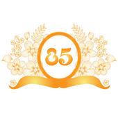 85th anniversary banner — Stock Vector