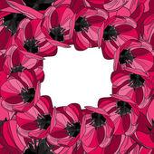 Floral uitnodiging — Stockvector