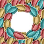 Convite floral — Vetorial Stock